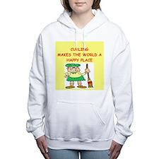 CURLING.png Women's Hooded Sweatshirt