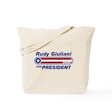 Rudy Giuliani for President Tote Bag