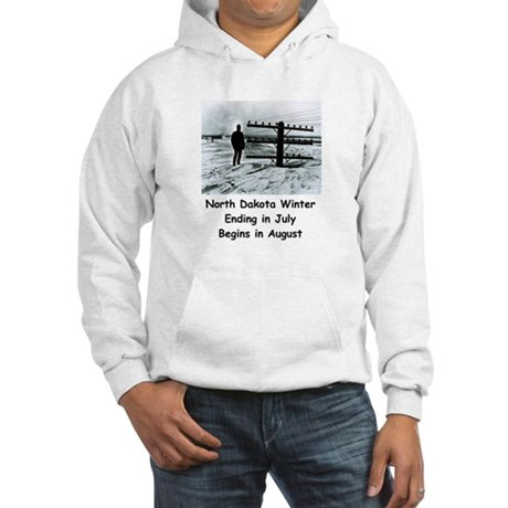 Winter in North Dakota Hooded Sweatshirt