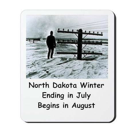 Winter in North Dakota Mousepad