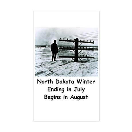 Winter in North Dakota Rectangle Sticker