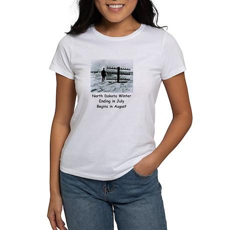 Winter in North Dakota Women's T-Shirt