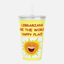 LIBRARY.png Acrylic Double-wall Tumbler