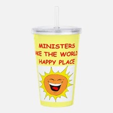 MINISTERS.png Acrylic Double-wall Tumbler