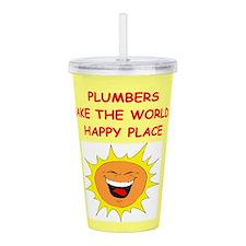 PLUMBER.png Acrylic Double-wall Tumbler