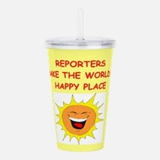 REPORTERS.png Acrylic Double-wall Tumbler