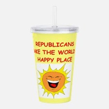 REPUBLICANS.png Acrylic Double-wall Tumbler
