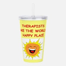 THERAPIST.png Acrylic Double-wall Tumbler