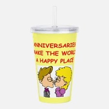 ANNIVERSARY.png Acrylic Double-wall Tumbler