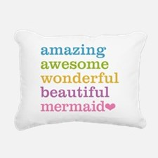 Cute Mermaid Rectangular Canvas Pillow