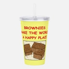 BROWNIES.png Acrylic Double-wall Tumbler