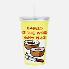BAGELS.png Acrylic Double-wall Tumbler