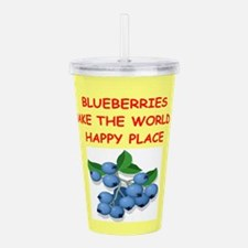 BLUEBERRIES.png Acrylic Double-wall Tumbler