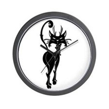 Black Cat w/Attitude Wall Clock