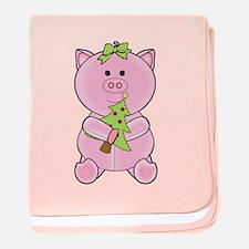 Cute Micro pig baby blanket