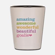 Funny Soccer goalie Shot Glass