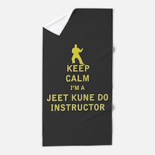 Keep Calm I'm a Jeet Kune Do Instructor Beach Towe