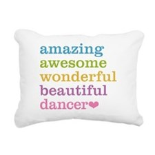 Cute Jazz dancing Rectangular Canvas Pillow