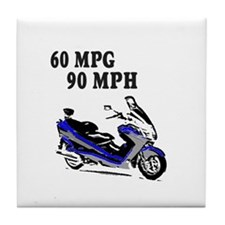 Scooter MPG/MPH Tile Coaster