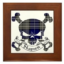 Napier Tartan Skull Framed Tile