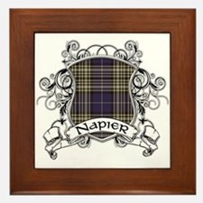 Napier Tartan Shield Framed Tile