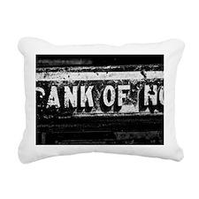 Bank of No Rectangular Canvas Pillow