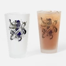 Napier Tartan Lion Drinking Glass