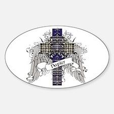 Napier Tartan Cross Sticker (Oval)
