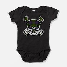 Murray Tartan Skull Baby Bodysuit