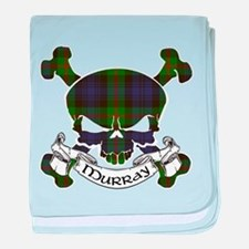 Murray Tartan Skull baby blanket