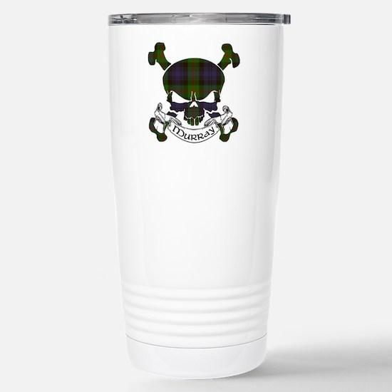 Murray Tartan Skull Stainless Steel Travel Mug