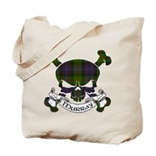Murray Tartan Skull Tote Bag