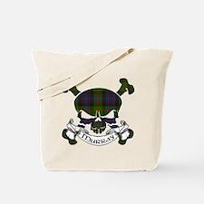 Murray Tartan Skull Tote Bag
