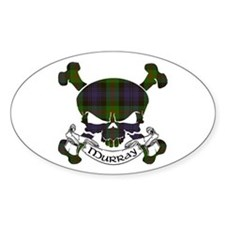 Murray Tartan Skull Decal