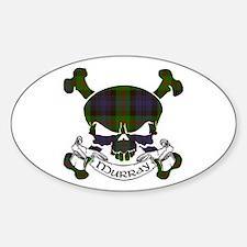 Murray Tartan Skull Sticker (Oval)