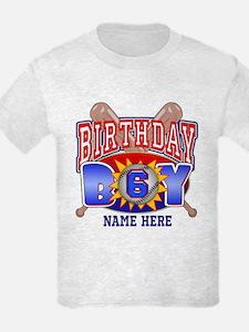 Baseball 6th Birthday T-Shirt