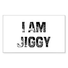 I Am Jiggy Rectangle Decal