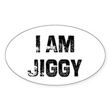 I Am Jiggy Oval Decal