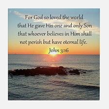 JOHN 3:16 Tile Coaster