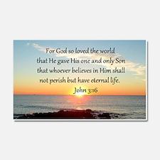 JOHN 3:16 Car Magnet 20 x 12