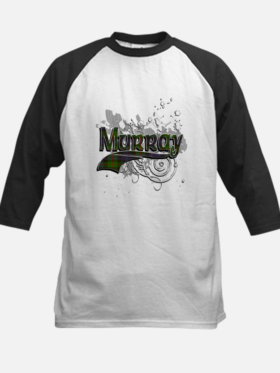 Murray Tartan Grunge Kids Baseball Jersey