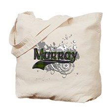 Murray Tartan Grunge Tote Bag
