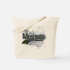 Murray Tartan Grunge Tote Bag