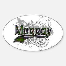 Murray Tartan Grunge Sticker (Oval)