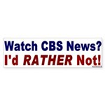 Sticker Bumper Sticker: Watch CBS News?