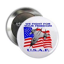 USAF We Fight For Your Freedo Button