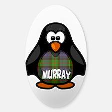 Murray Tartan Penguin Sticker (Oval)