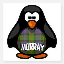 "Murray Tartan Penguin Square Car Magnet 3"" x 3"""