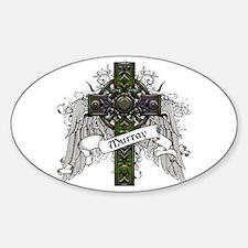 Murray Tartan Cross Sticker (Oval)