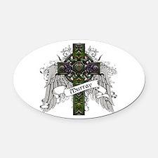Murray Tartan Cross Oval Car Magnet